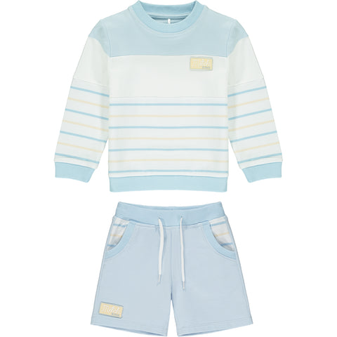 Mitch & Son boys 2 piece set shorts and sweat top Beltane White / pale blue    2 piece set - shorts and sweat top  Machine washable 30*