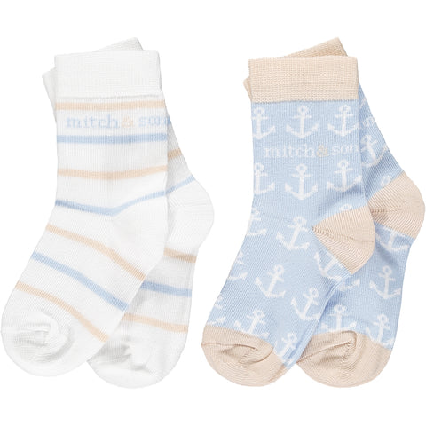 Mitch & Son - 2 pair pack socks, Bank