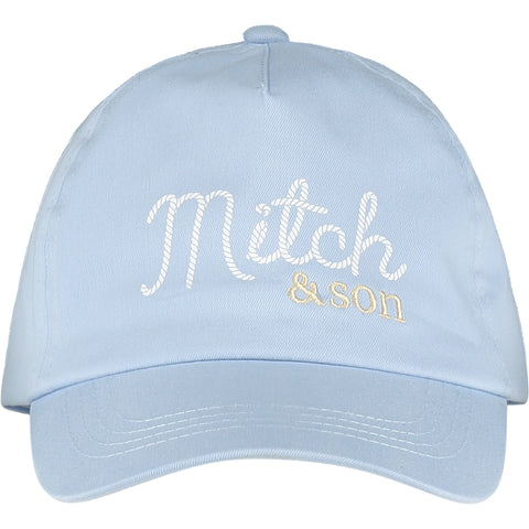 Mitch & Son - Pale blue cap Biggins