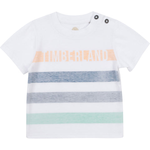 Timberland - White T-shirt, organic cotton T05J92 18m - 4yrs