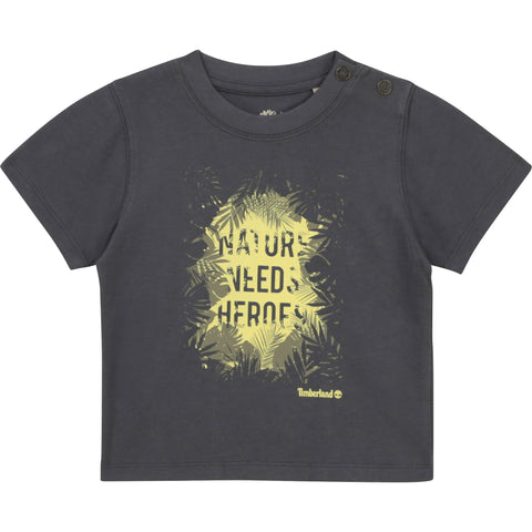 Timberland - Anthracite T-shirt, organic cotton T05J92 12m - 4yrs