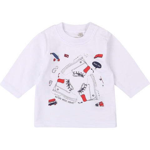 Timberland - Long sleeved white tee shirt  T95890/10B