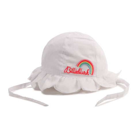 Billieblush - White sun hat, rainbow motif