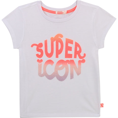 Billieblush - Super Icon white tee shirt