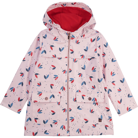 Carrément Beau  Girls pink raincoat with hood  Zip front fastening  2 front pockets  Machine washable 30*