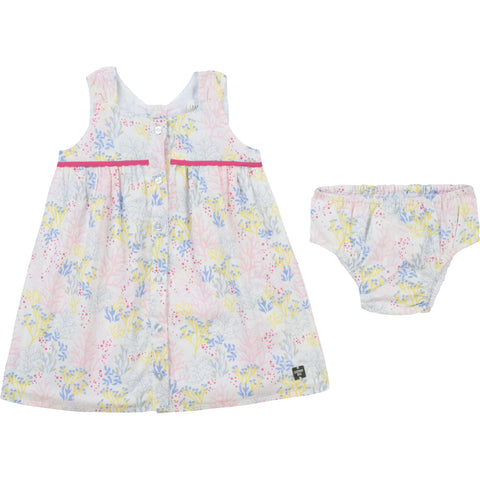 Carrément Beau  Girls dress and pants  Beautiful detailing at back, small opening at back  100% sof cotton  Lining 100% cotton  Button fastening down front  Machine washable 30*