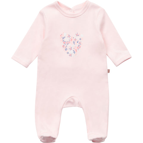 Carrément Beau - Baby girls pink all in one, bird heart print, Y97102/44L