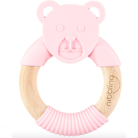 Nibbling London - Teething toy available in grey, pink or blue