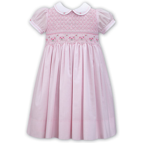 Sarah Louise - Hand smocked pink dress, 011498-2