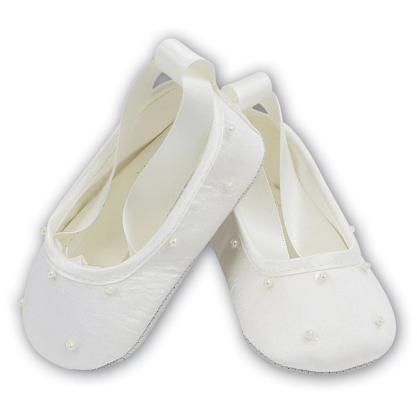 Sarah Louise Shoes Girls Shoes - Ivory 400