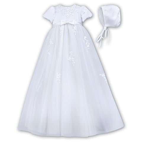 Sarah Louise - Christening gown, white, 001054S
