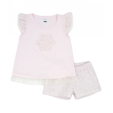 Ref: 4451  Rapife girls 2 piece set  Top and shorts  Main fabric 100% cotton  Machine washable 30*
