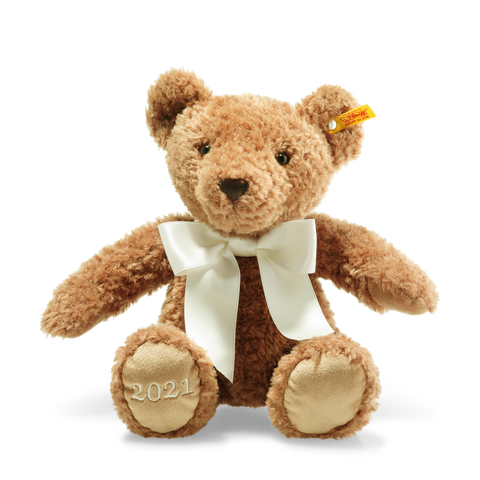Steiff -  2021 Bear with cream ribbon, 113536