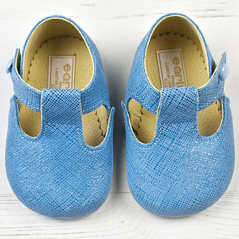 "Early Days -  Baby, soft leather pram shoes, Sam<BR> <span style=""color:#FF0000"">SALE"
