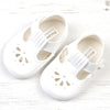 Early Days girls pram shoes, white B6170 http://www.betty-mckenzie.com