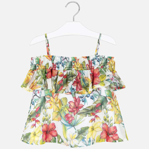 Mayoral - Floral top, 6164