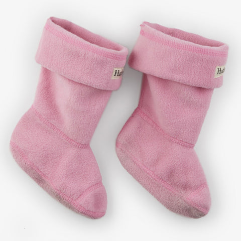 Hatley - Fleece Boot linners, pink
