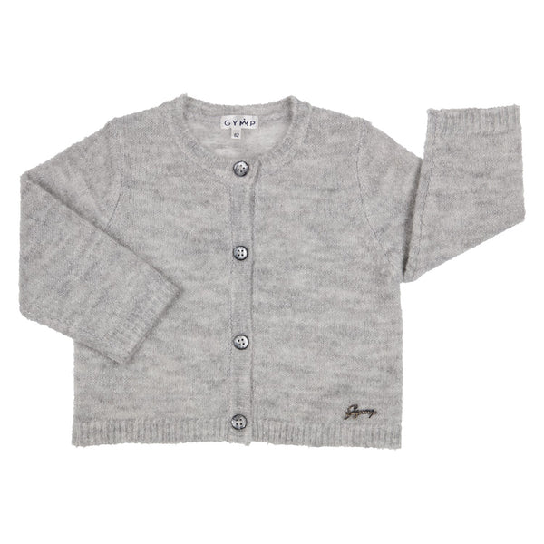 GYMP - Soft Grey sparkle knit cardigan
