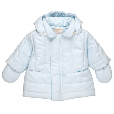 Emile et Rose - Pale blue jacket with mitts, Neil