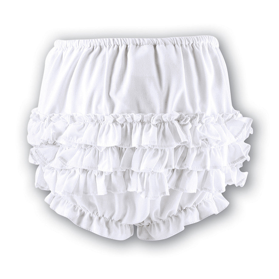 4a7af04a438ba Sarah Louise - Baby girls white frilly pants 003760P – Betty Mckenzie