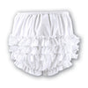 Sarah Louise -  Baby girls white frilly pants 003760P