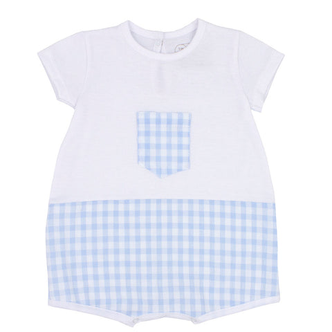 Rapife - Pale blue and white romper, 4510S20