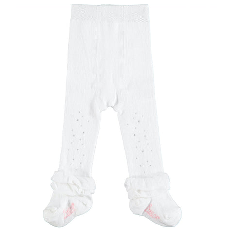 A'Dee - baby tights white sparkle Issie