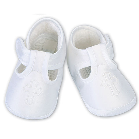 Sarah Louise - white Christening shoes  004482