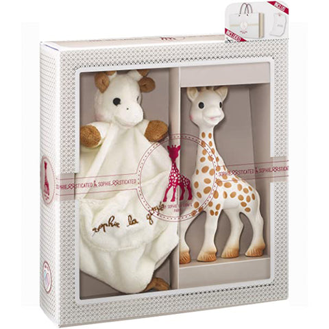 ophie la Girafe - 2 piece set, original Sophie and comforter