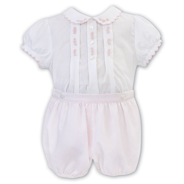 Sarah Louise - baby girl, 2 piece set, shorts and shirt, 011802