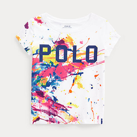 Ralph Lauren - tee shirt, white with paint splash print