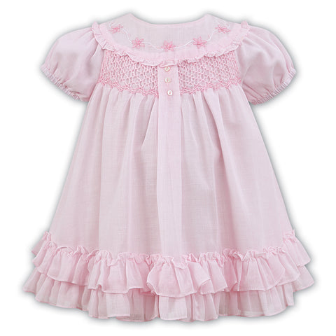 Sarah Louise - Pink dress hand smocked, 011462