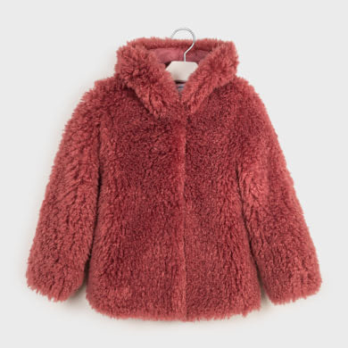 "Mayoral - Faux fur jacket pink 7410<BR> <span style=""color:#FF0000"">SALE"