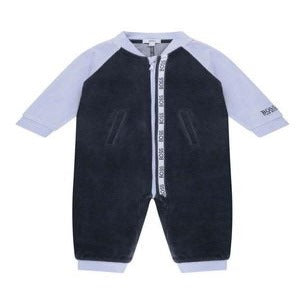 Boss - Blue velour all in one J94261/849