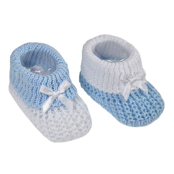 Soft Touch - blue/white booties