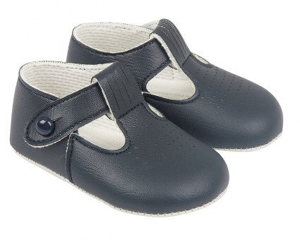 Early days - Boys pram shoes B625 navy