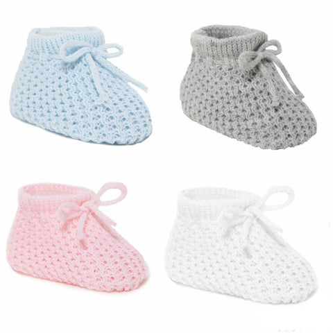Soft Touch - Baby booties assorted colours