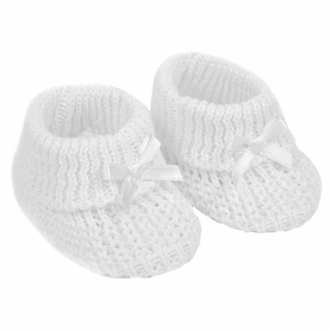 Soft Touch - white baby booties