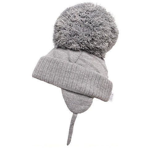 Satila - Jim C04801 grey large bobble hat