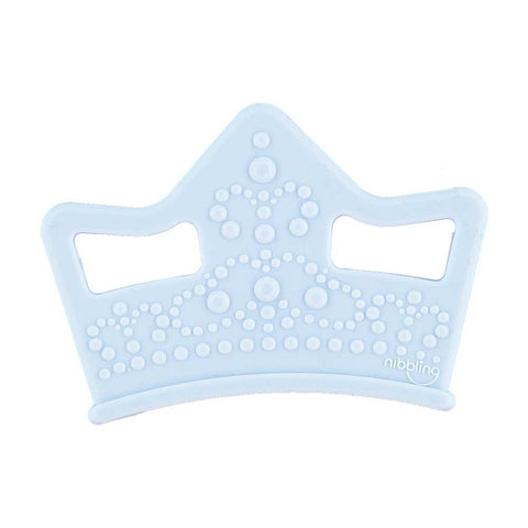 Nibbling London - Teething toy, Royal range tiara, blue