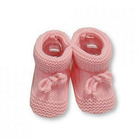 Nursery Time - Knitted booties pink