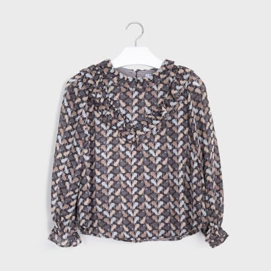 Mayoral - Blouse 7143 cat print