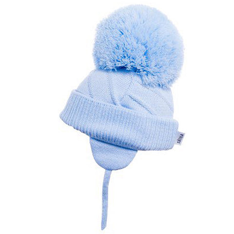 Satila - Jim C04801 light blue large bobble hat