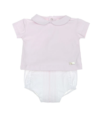 Laranjinha - baby girls 2 piece set, shorts and top V0056
