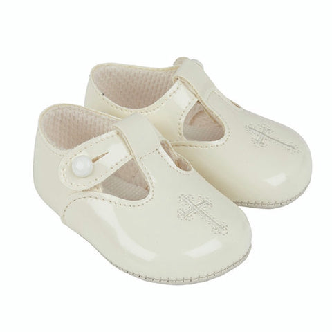 Early Days -  Baypods  B044 Christening shoes, cream