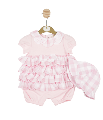 Mintini - Baby girls romper & hat MB3299
