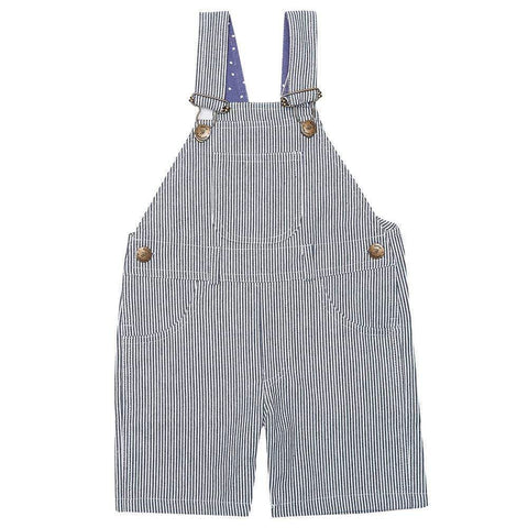 Dotty Dungarees - Otto stripe denim short leg