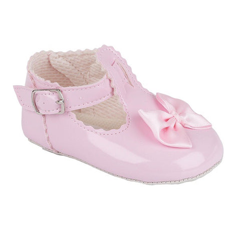 Early Days - Baby girls pram shoes B861 pink