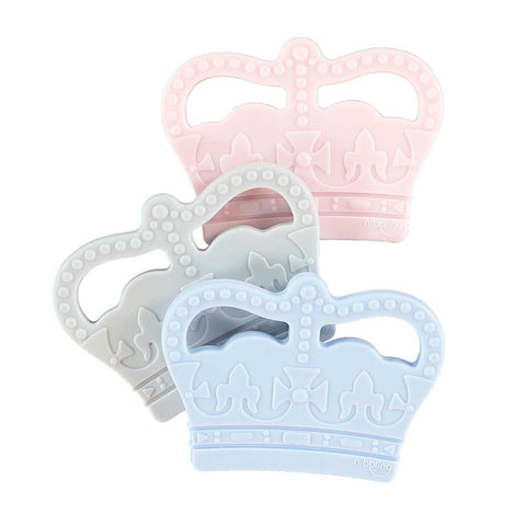 Nibbling London - Teething toy, Royal range crown, grey