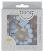 Nibbling London - Dummy Clip (crown) blue